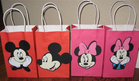 Mickey Mouse Handmade Decorations - mickey mouse minnie mouse goodie treat loot bags