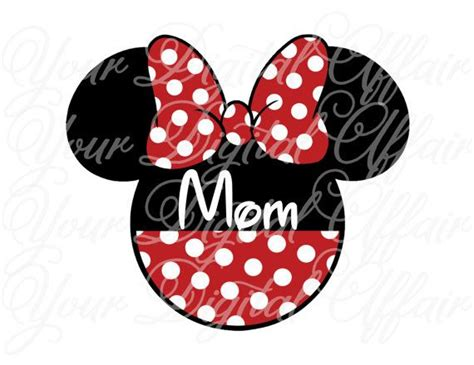 printable iron on minnie mouse personalized minnie mouse classic red polka dot bow disney