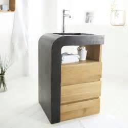 meuble sous vasque bois exotique meuble une vasque en inspirations avec meuble sous vasque