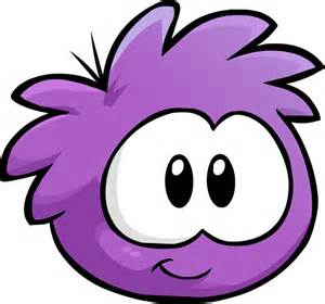 Purple Puffle Colouring Pages 2