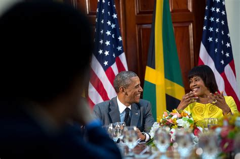 portia simpson miller house in photos the president s trip to jamaica and panama