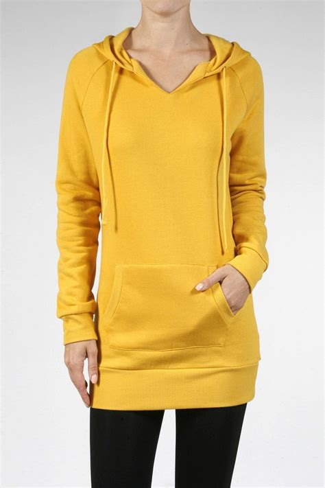 Fleece Lined Pullover Dress sleeve pullover hooded sweatshirt fleece