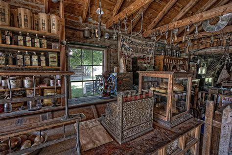 Home Interior Design Ipad App counter of old west general store montana photograph by
