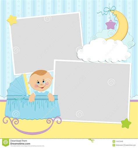 photo template template for baby s photo album royalty free stock images