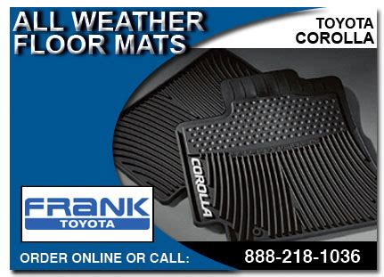 Corolla All Weather Floor Mats by Genuine Toyota Corolla Accessories Auto Parts San