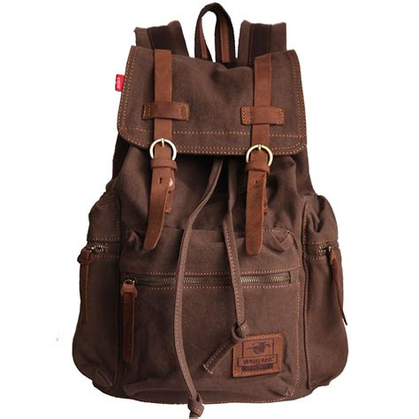 rucksack backpack s vintage canvas leather backpack rucksack