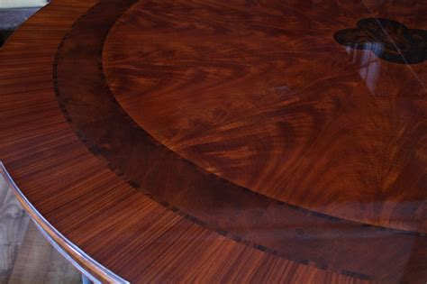 Large Round Dining Room Table by 84 Quot High End Large Round Mahogany Dining Table With 2
