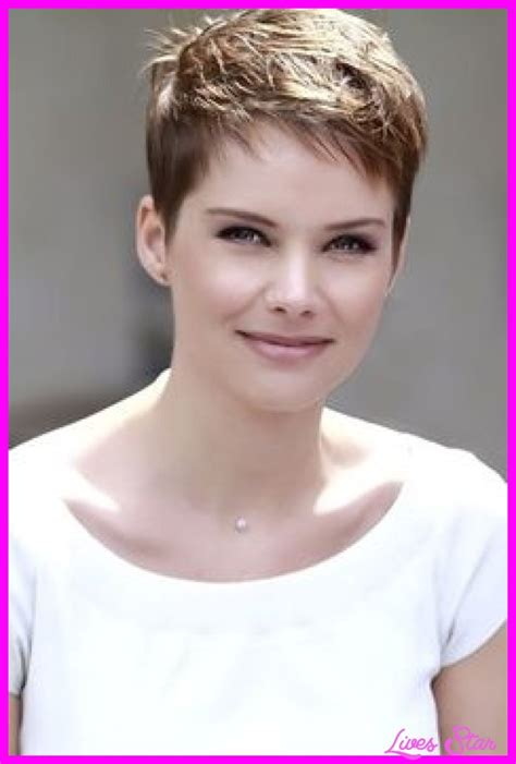 pics of womens hair cuts that are shorter in the back n longer in front super short womens haircuts livesstar com