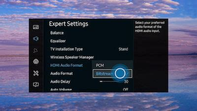 format audio tv using speaker settings on your 2016 smart tv un k
