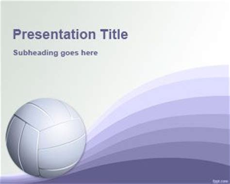 powerpoint themes volleyball volleyball powerpoint template