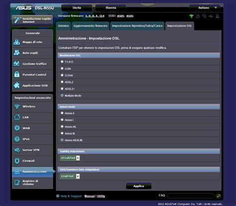 Modem Asus Dsl N55u consiglio configurazione modem asus dsl n55u