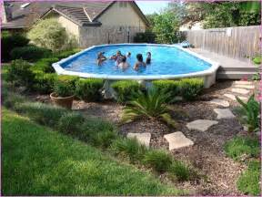 above ground pool landscape ideas bee home plan home