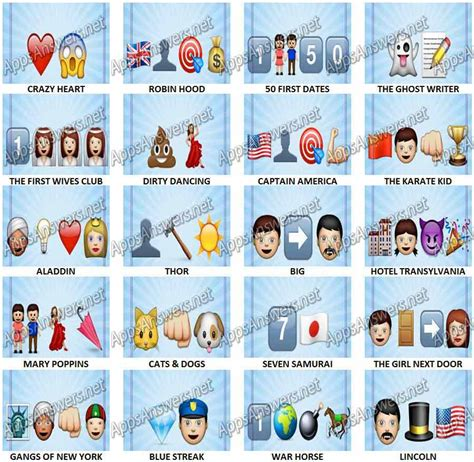 emoji film charades emojimovies level 121 level 140 answers apps answers net