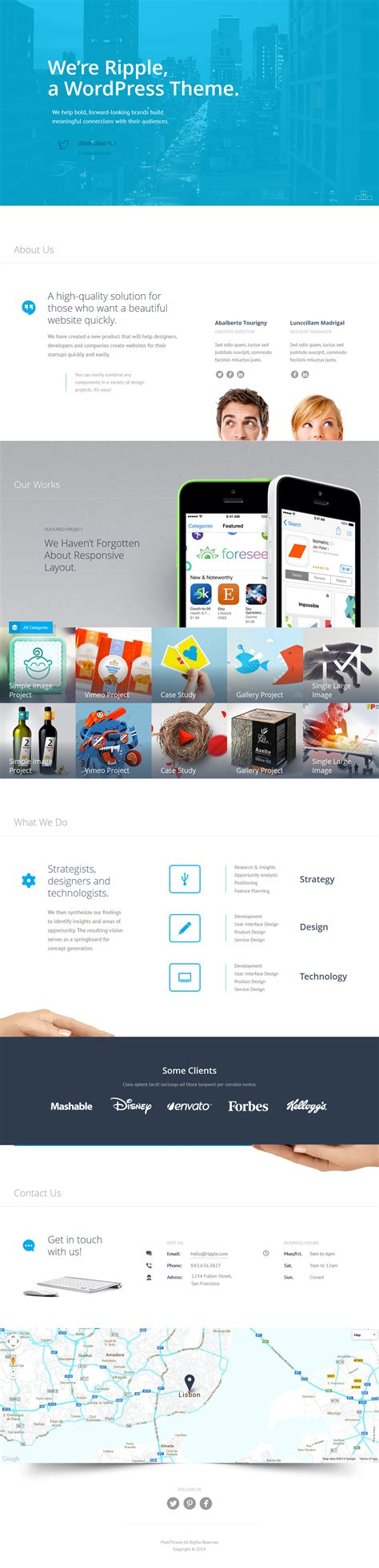 unique wordpress themes free download ripple a premium creative wordpress theme free download