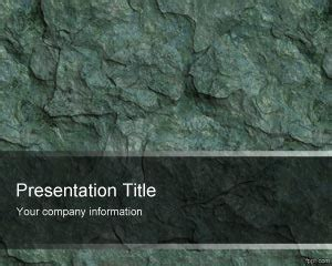 rock powerpoint themes stone wall pawerpoint template