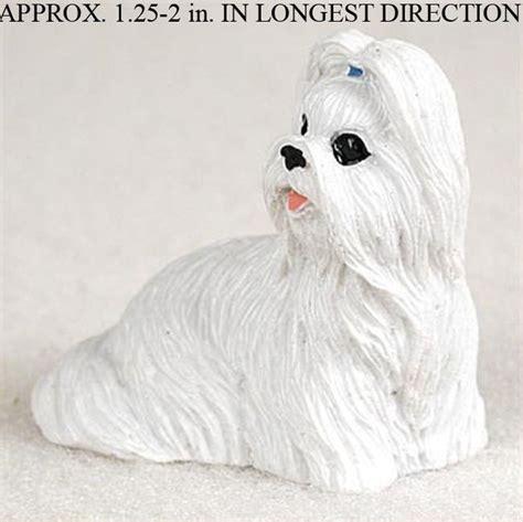shih tzu figurines uk shih tzu mini resin figurine white ebay