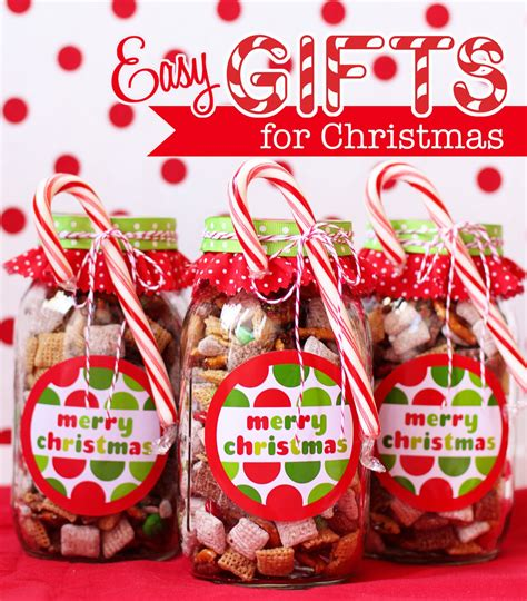 Easy Handmade Gifts - how to make handmade chex mix gifts bonus free
