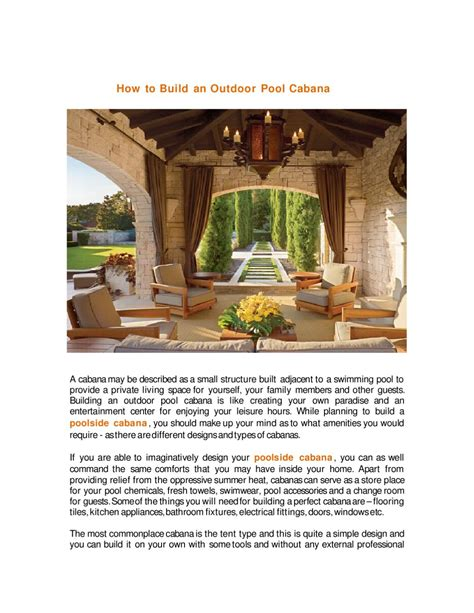 how to build a cabana 28 how to build a cabana dreamy outdoor cabanas