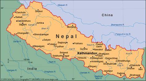 nepal on map nepal introduction