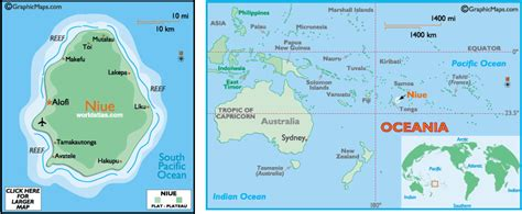 niue on world map niue map and niue satellite images