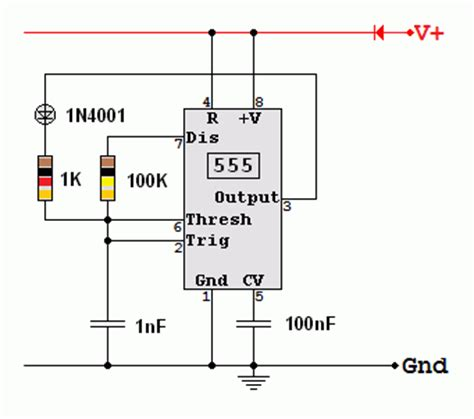 generator resistor circuit 555 high pulse astable