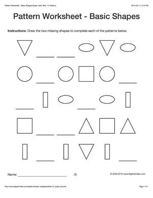 pattern activities for middle school 17 best images about pattern worksheets on pinterest the