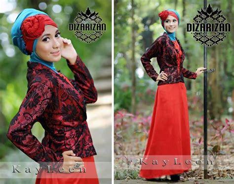 Promo Dress Brukat Termurah Dan Berkualitas 1 pakaian islami abiti moslem style promo kayleen merah