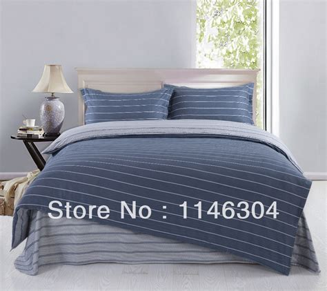 bed in a bag king sets 4pcs slate blue small stripe 100 cotton bedding set bed