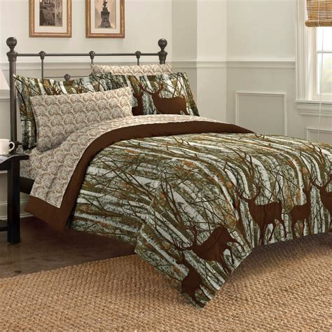 new forest hunting lodge deer outdoors bedding comforter