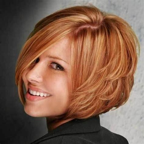 haircuts for round face layers pictures of short layered hairstyles for round faces