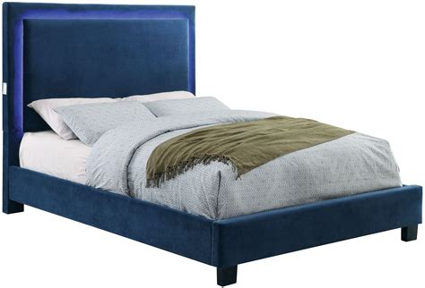 navy beds erglow i navy twin upholstered panel bed cm7695nv t