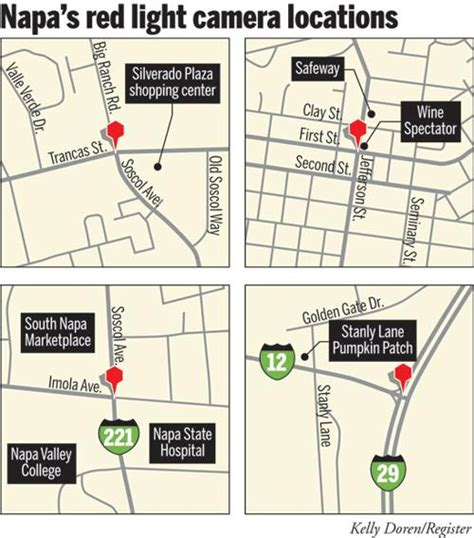 red light camera locations judge rules napa red light cameras are illegal local