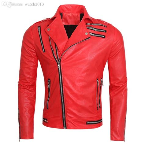 fall motorcycle jacket 2017 fall 2016 red motorcycle leather coat european and
