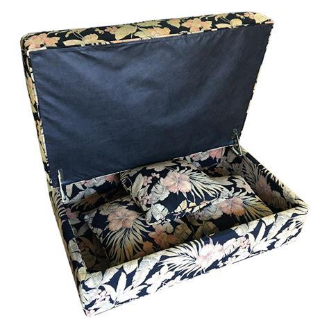 ottoman with matching pillows storage ottoman matching pillows chairish