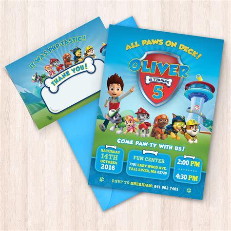 Paw Patrol Thank You Cards Free Printable
