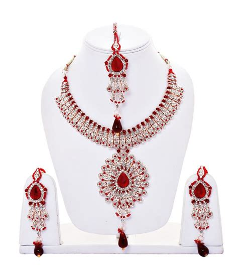 Tika Marun lucly jewellery maroon maang tika sets buy lucly
