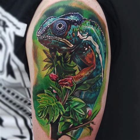 chameleon tattoos 35 colorful chameleon ideas cheerful designs that