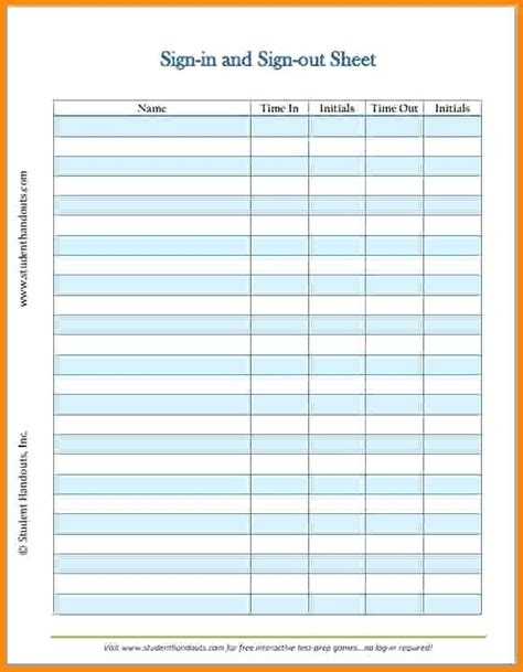 student sign in sheet student sign in sheet free printable client daily sign in
