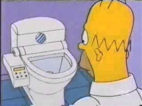 simpsons bathroom simpsons japanese toilet youtube