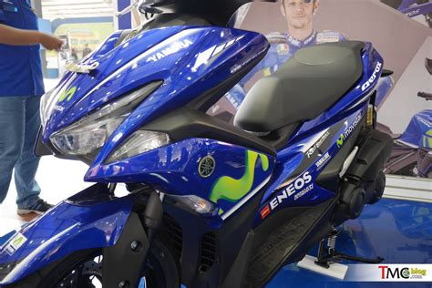 Yamaha Aerox 155 Gp Movistar vlog review dan galeri foto yamaha aerox 155 cc yamaha