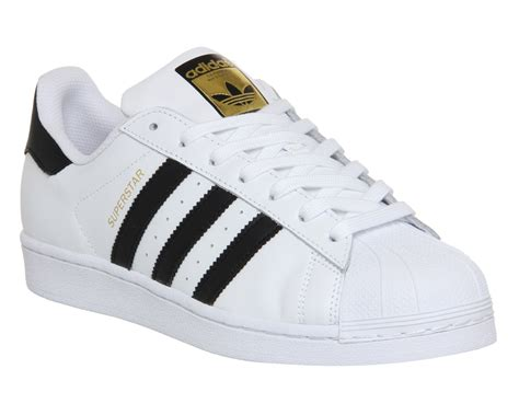 black and white patterned adidas trainers mens adidas superstar 1 white black foundation trainers