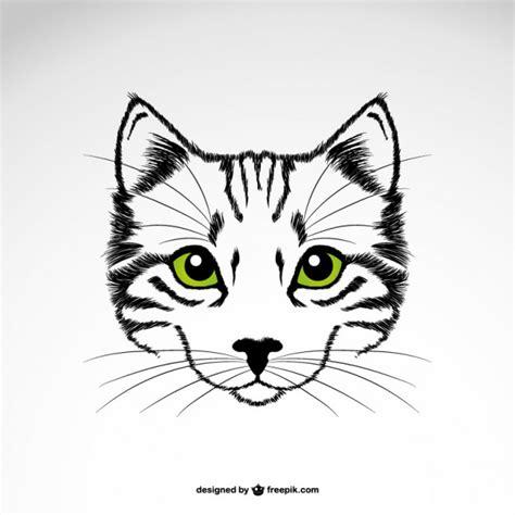 imagenes de ojos verdes de gatos vector gato con ojos verdes descargar vectores gratis