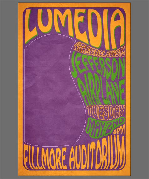 60 s pop posters create a 60 s psychedelic style concert poster