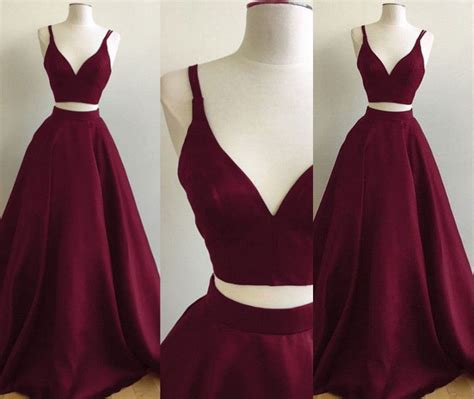 burgundy color prom dress burgundy two prom dresses straps sleeveless a