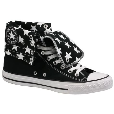 womens converse all chuck lace knee hi black