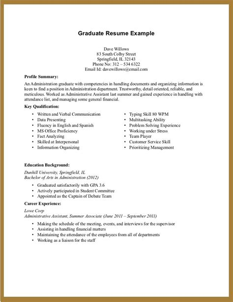 college student resume exles little experience