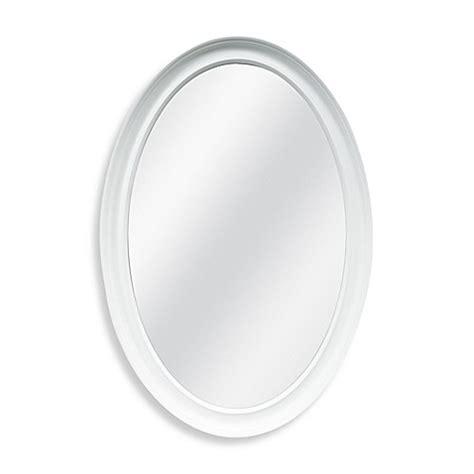 white framed oval bathroom mirror decorative 21 inch x 31 inch oval mirror bed bath beyond
