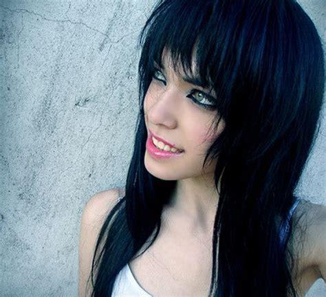 imagenes de negro azulado colores para el cabello elegi tu tono ideal de peinados