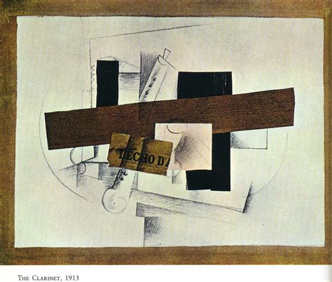 braque collage the clarinet tenora 1913 georges braque wikiart org