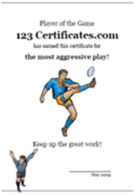 free printable rugby certificates and rugby awards